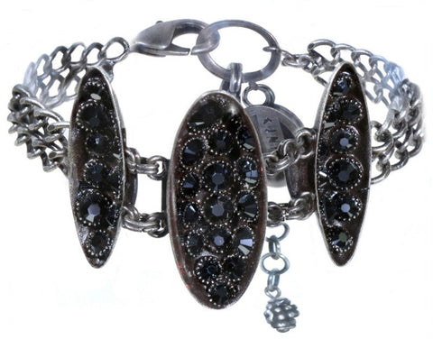 bracelet Back To The Future black antique silver