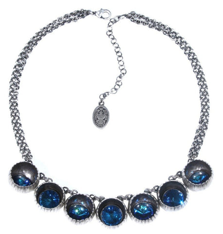 necklace Cocoon blue antique silver