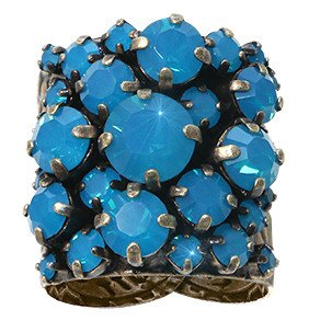 ring Ballroom dark blue antique brass