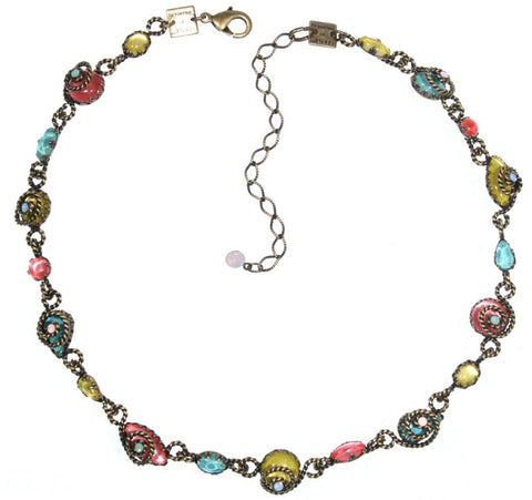 necklace Twisted Lady multi antique brass