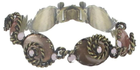 bracelet Twisted Lady brown antique brass