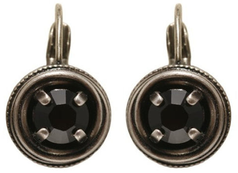 earring eurowire Cages black antique silver SS 29