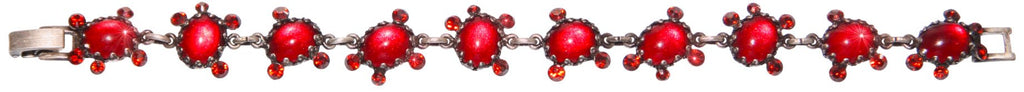 bracelet Melody Drops red antique silver