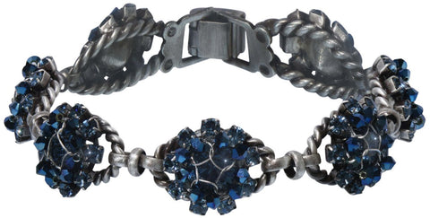 bracelet Ice Cocoon blue antique silver
