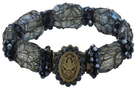 bracelet Ice Cocoon black/grey antique brass medium