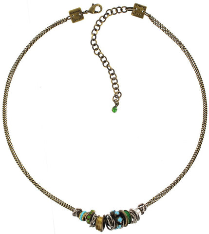 necklace Beduin turquoise antique silver/antique brass