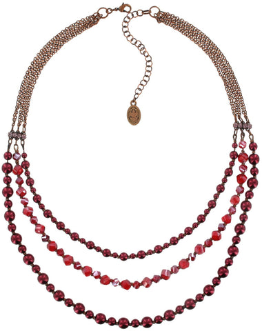 necklace MyRouge red antique copper