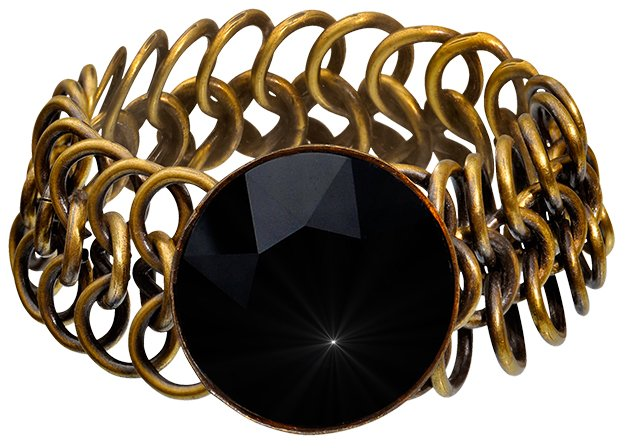 bracelet Rocks black antique brass