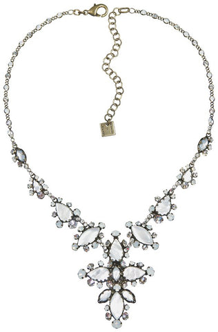 necklace Dangerous Liaisons white antique brass