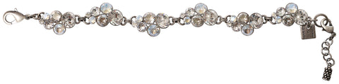 bracelet Petit Glamour icy white antique silver
