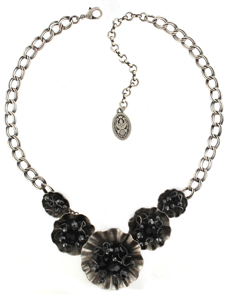necklace Cupcake black antique silver small