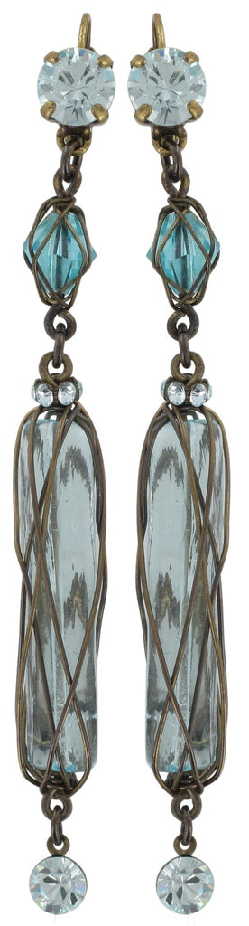 earring eurowire dangling Antigone multi antique brass
