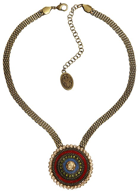 necklace Tribal multi antique brass