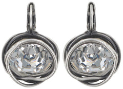 earring eurowire Sparkle Twist white antique silver ss 60