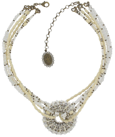 necklace Gipsy Sport white Light antique brass