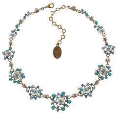 necklace Hera blue antique brass