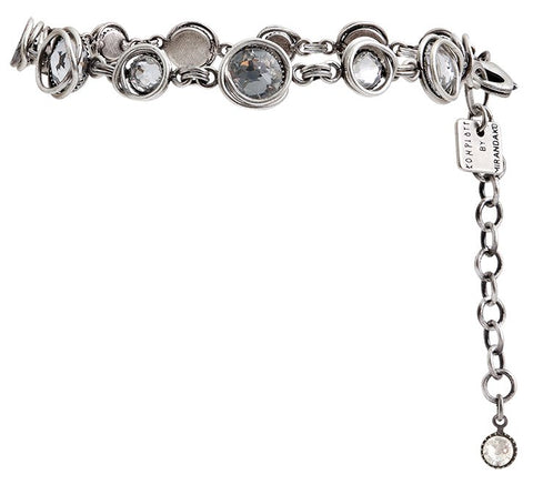 bracelet Sparkle Twist white antique silver
