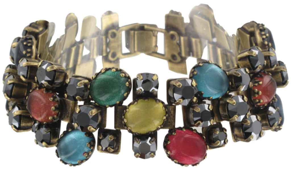 bracelet Orchid Hybrid multi antique brass