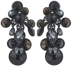 earring stud dangling Lost Garden black gun metal