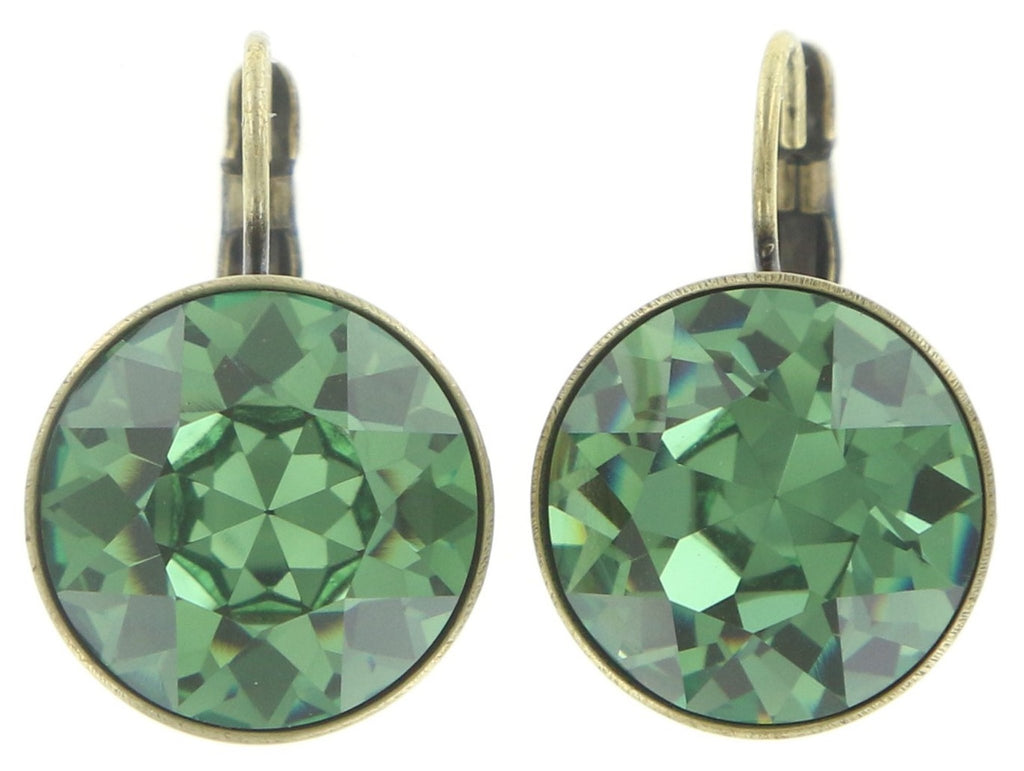 earring eurowire Casino green antique brass ss 60