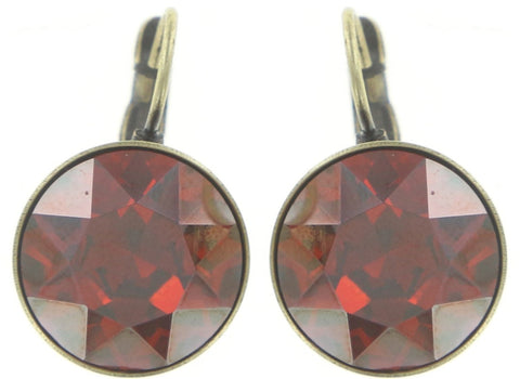 earring eurowire Casino red antique brass ss 60