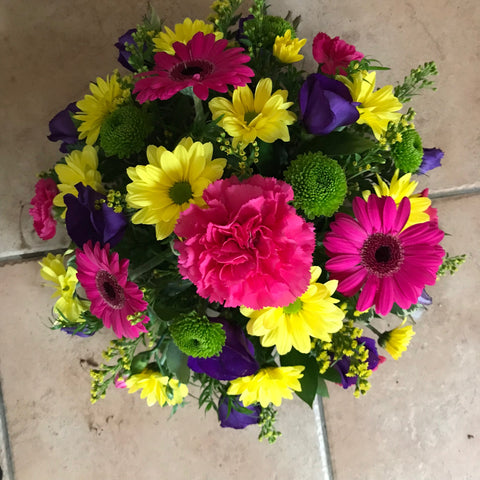 A bright posy arrangement.