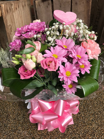 A Wear it pink bouquet
