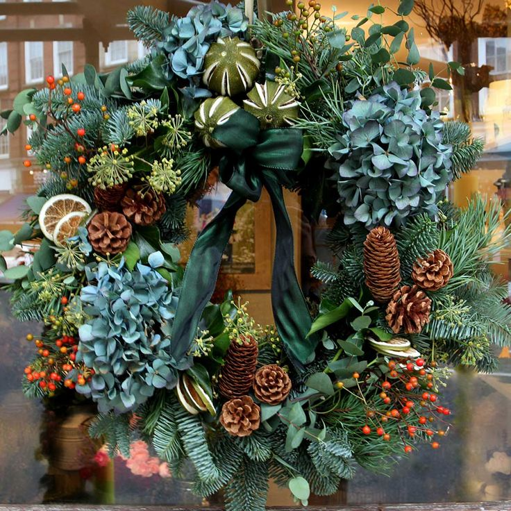 Hydrangea Door Wreath Dawns Flower Box