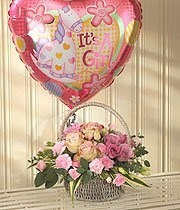 Basket - Pink Bundle Of Joy Balloon Gift Set
