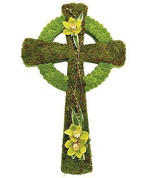 Funeral Flowers - Celtic Cross