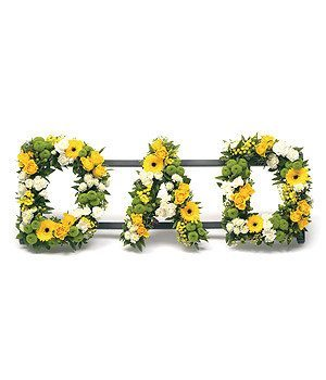 Funeral Flowers - Dad Lettering