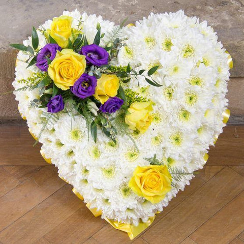 Funeral Flowers - Golden Heart
