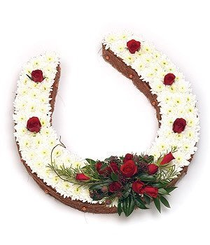 Funeral Flowers - Horseshoe Tribute
