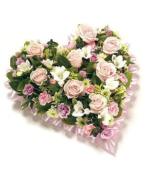 Funeral Flowers - Loose Floral Heart