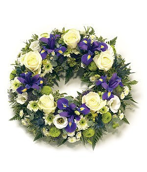 Funeral Flowers - Traditional Round Wreath