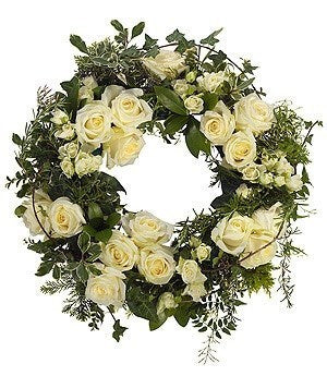 Funeral Flowers - White Wreath