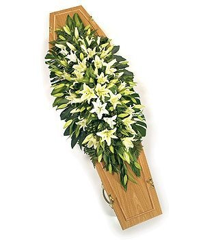 Funeral Spray - Double Ended Lily Spray