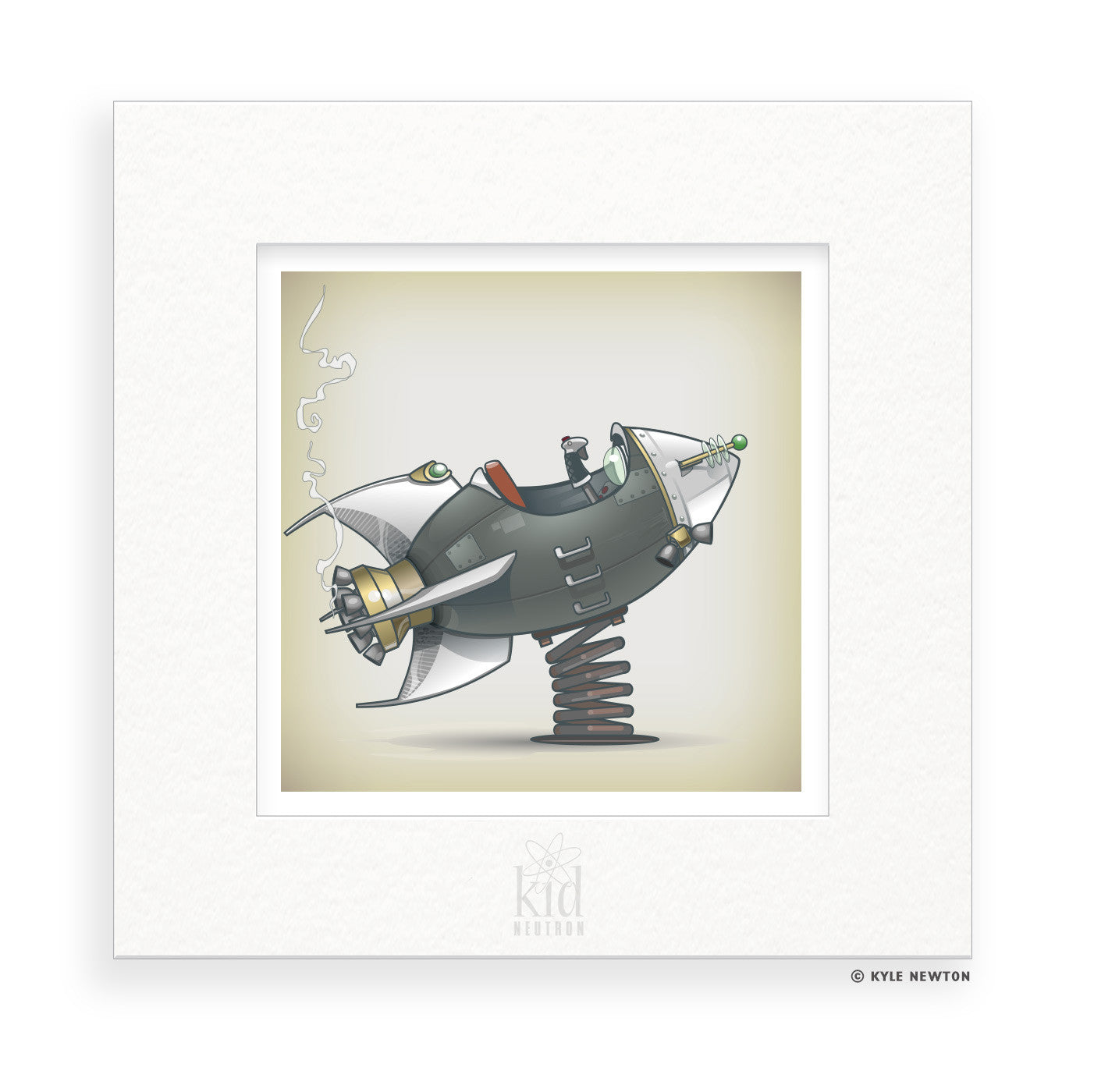 Astronaut : Personalized & Matted Art Print