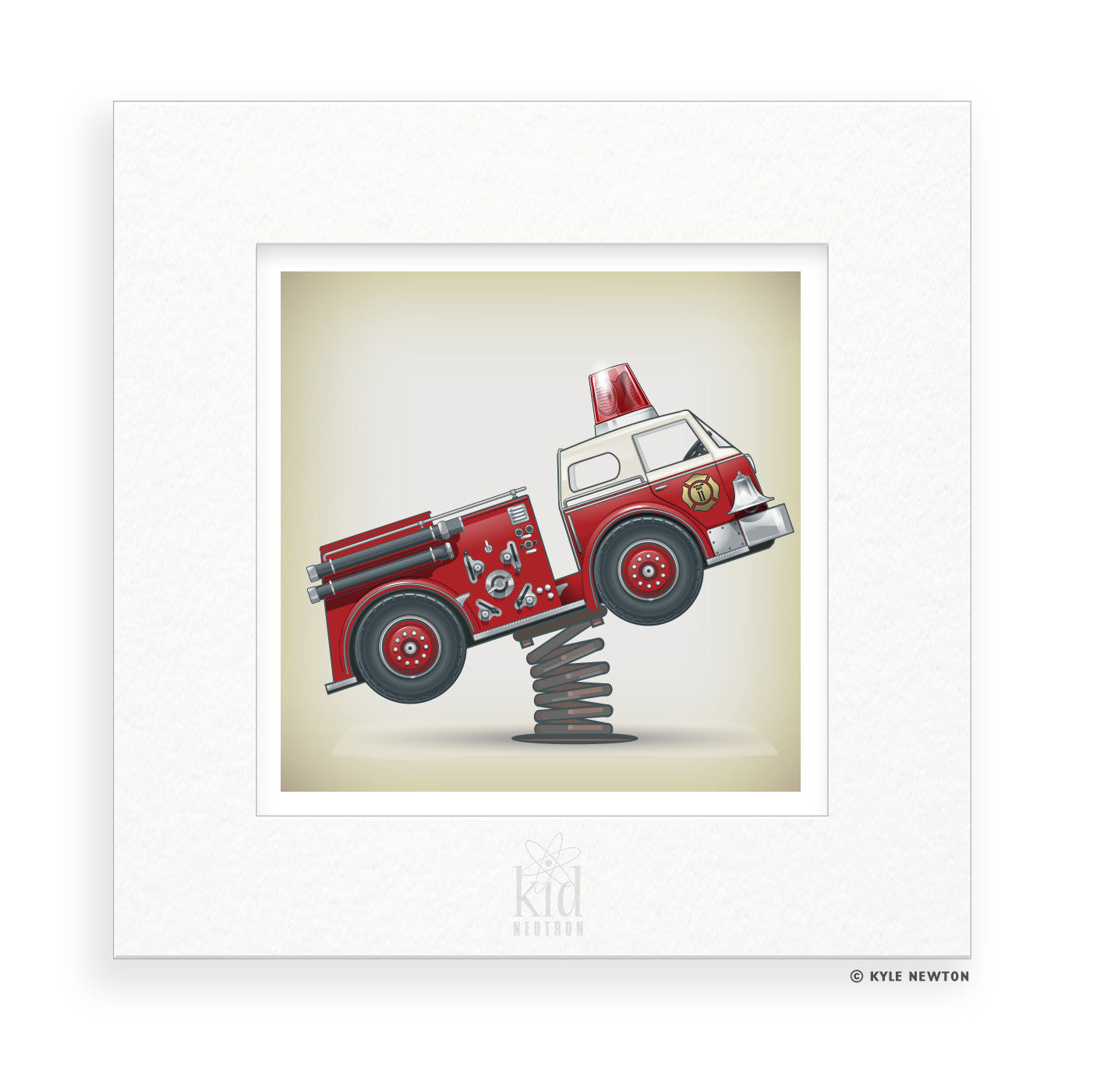 Fire Chief : Personalized & Matted Art Print