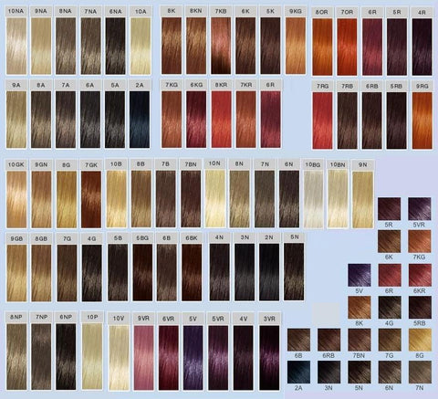 Hair Color Charts Uhsupply