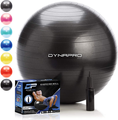 Extra Thick Eco-Friendly & Anti-Burst Material Supports Over 2200lbs – Stability Ball for Home, Gym, Chair, Birthing Ball