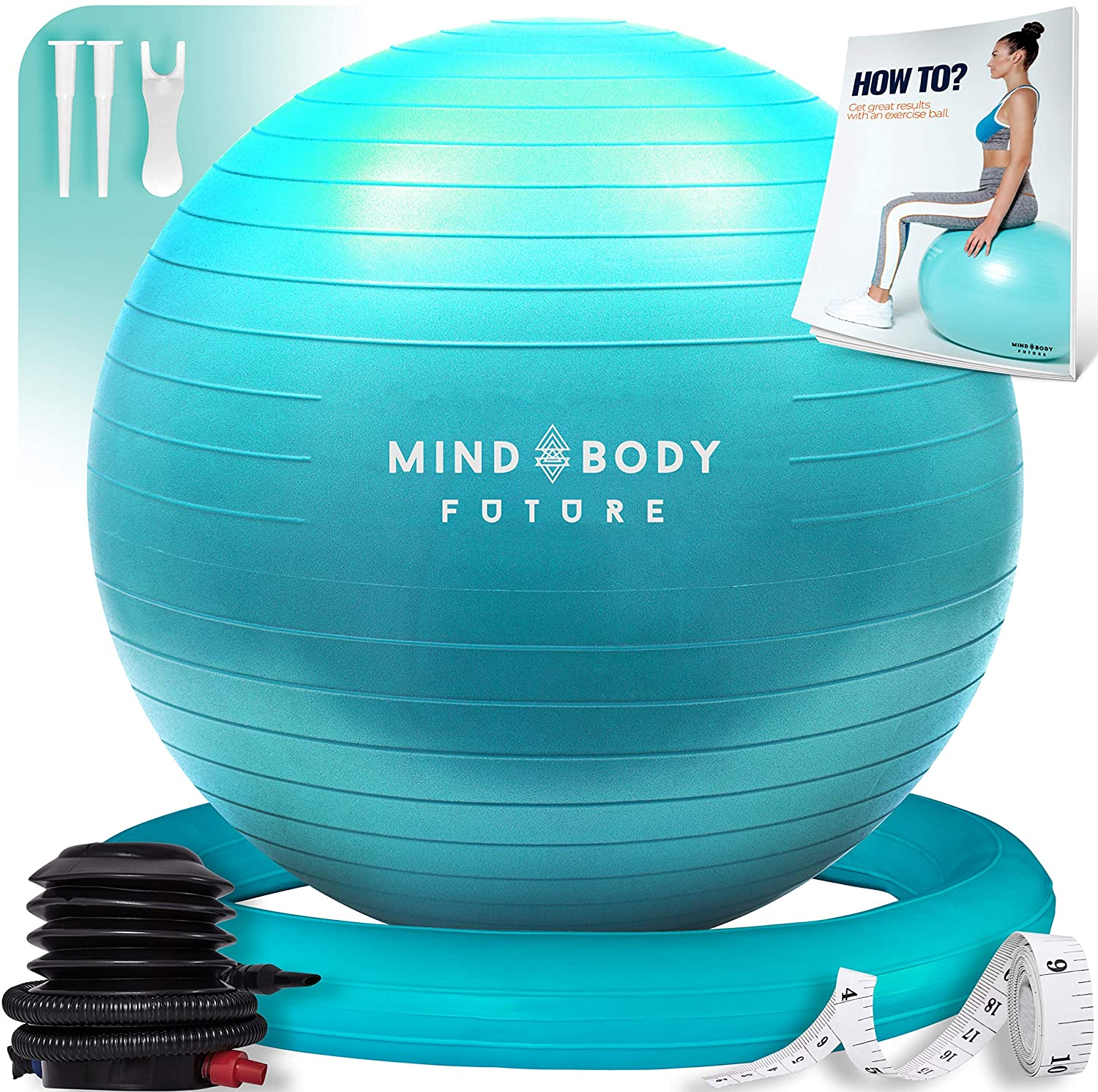 Yoga Ball Chair (55cm, 65cm & 75cm) - Exercise Ball & Stability Ring. For Pregnancy, Balance, Pilates or Birthing Therapy.