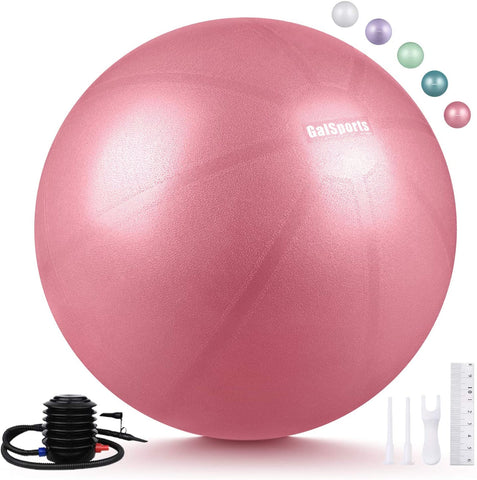Pregnancy Birthing Ball, Yoga Exercise Birth Ball Chair for Delivery & Training & Fitness, Extra Thick Non-Toxic Anti-Burst Labor Ball with Quick Pump, Certified by SGS