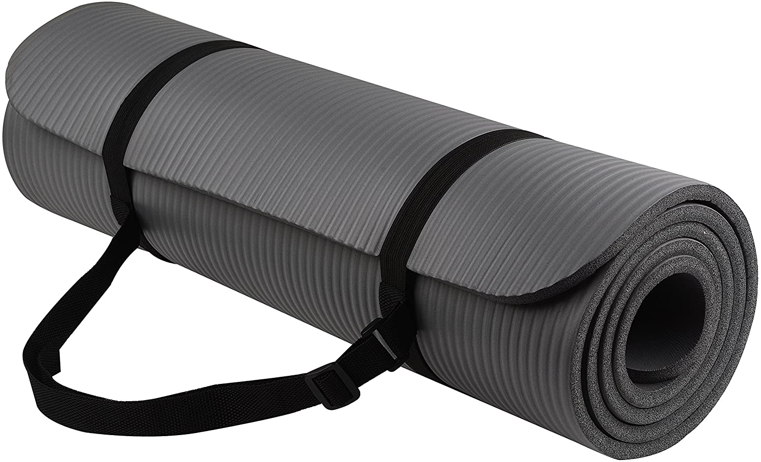All-Purpose 1/2-Inch Extra Thick High Density Anti-Tear Exercise Yoga Mat with Carrying Strap