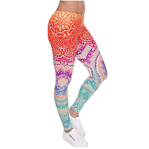 Women Leggings Digital Print Yoga Skinny Pants High Waist Gym Elastic Tights