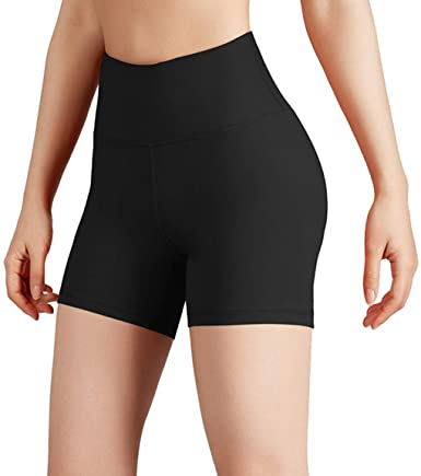 Women's Yoga Short Tummy Control Workout Running Athletic Non See-Through Yoga Shorts with Hidden Pocket