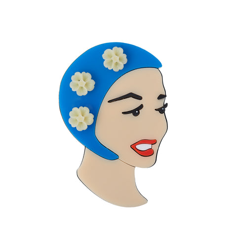 Bathing Beauty brooch (blue)