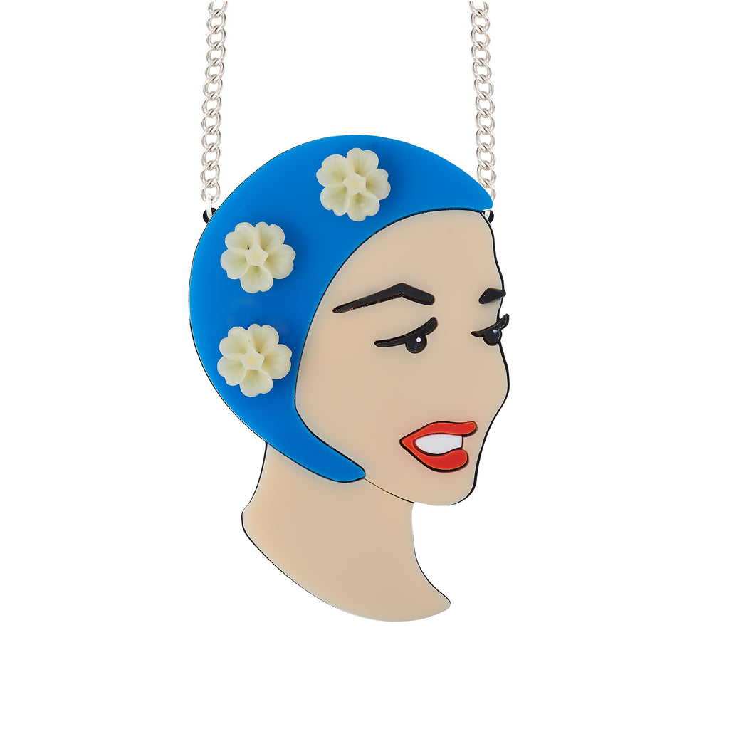 Bathing Beauty necklace (blue)
