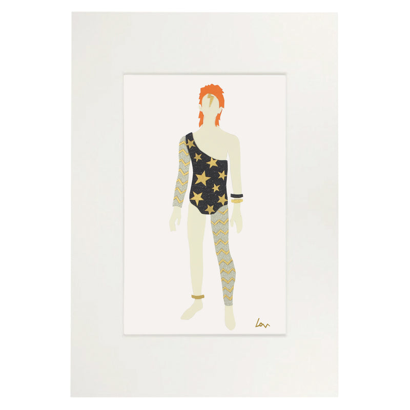 Limited Edition Bowie paperdoll (silver)