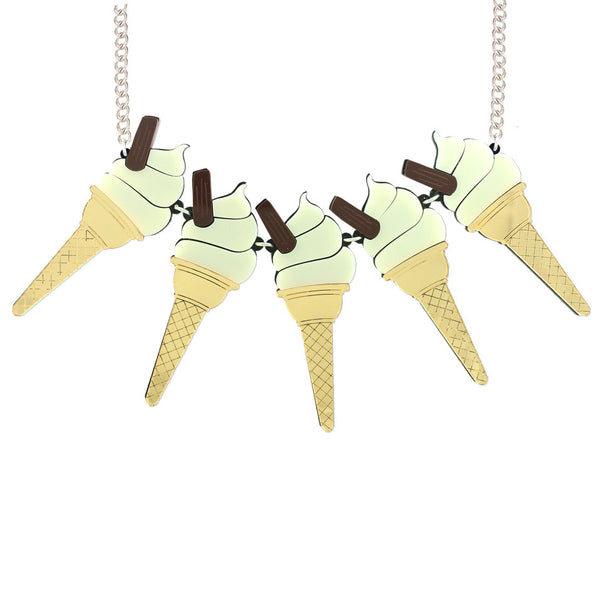 99 ice-cream statement necklace